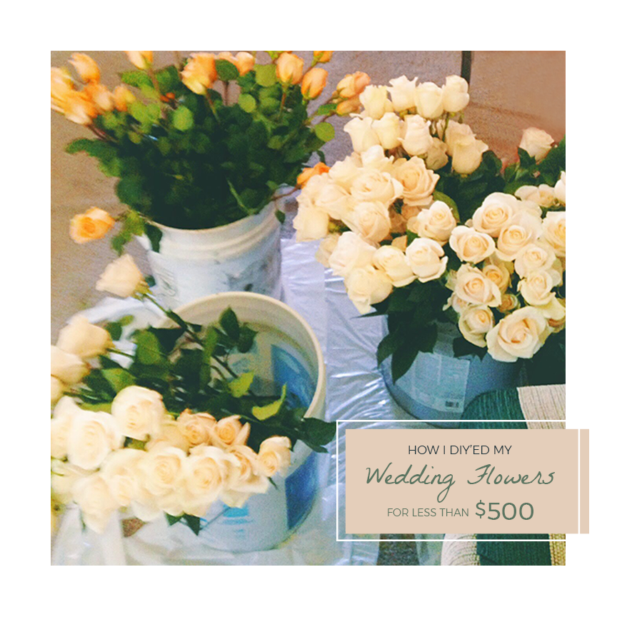 Wedding Flowers in Buckets