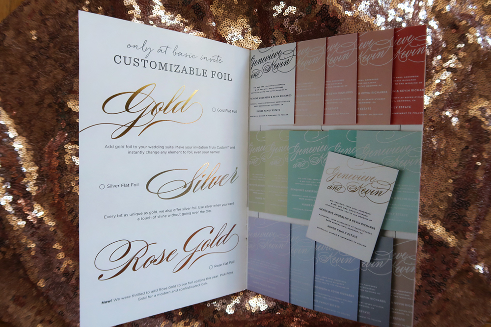 Basic Invite and Wedding Website Foil
