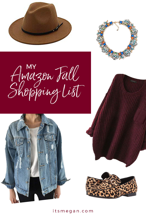 My Amazon Fall Shopping List | It's Megan Blog | #shopping #fall #amazonprime #amazon #woolhat