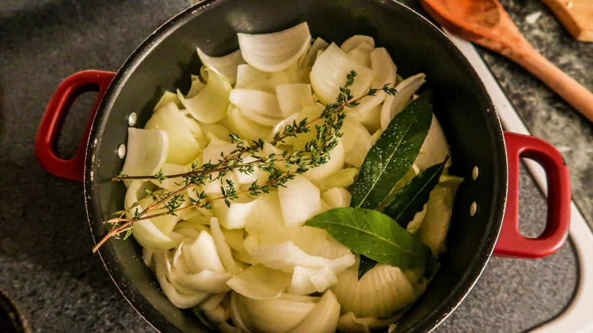 Add all ingredient to the pot   The Ultimate French Onion Soup Recipe   It's Megan   #frenchonionsoup #recipe #soup